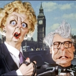 "Image for the Comedy programme ""Spitting Image"""