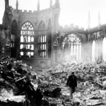 "Image for the History Documentary programme ""Blitz: The Bombing of Coventry"""