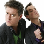 "Image for the Childrens programme ""Dick and Dom's Funny Business"""