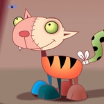 "Image for the Animation programme ""Frankenstein's Cat"""