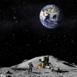 "Image for the Documentary programme ""The Truth Behind the Moon Landings"""