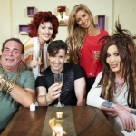 "Image for the Cookery programme ""Celebrity Come Dine with Me"""