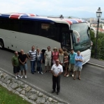 "Image for the Travel programme ""Celebrity Coach Trip"""