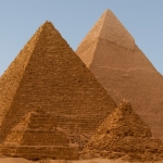 "Image for the History Documentary programme ""Secrets of the Pyramids"""
