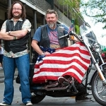 "Image for the Cookery programme ""The Hairy Bikers' Mississippi Adventure"""