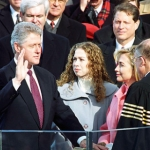 "Image for the Documentary programme ""The Clintons"""