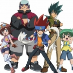 "Image for the Childrens programme ""Beyblade Metal Fusion"""