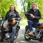"Image for the Cookery programme ""The Hairy Bikers: Restoration Road Trip"""