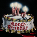 "Image for the Film programme ""Bloody Birthday"""