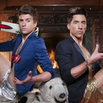 "Image for the Chat Show programme ""Staying in with Greg and Russell"""