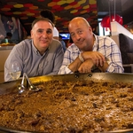 "Image for the Cookery programme ""Bizarre Foods America"""