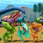 "Image for the Childrens programme ""Dinosaur Train"""