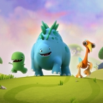 "Image for the Childrens programme ""Dinopaws"""