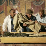 "Image for the History Documentary programme ""King Tut Unwrapped"""
