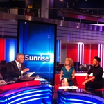 "Image for the News programme ""Sunrise"""