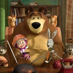 "Image for the Animation programme ""Masha and the Bear"""