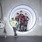 "Image for the Childrens programme ""Lab Rats"""