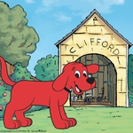 "Image for the Childrens programme ""Clifford the Big Red Dog"""