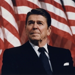 "Image for the Documentary programme ""Reagan"""