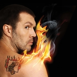 "Image for the Comedy programme ""Rhod Gilbert: The Man with the Flaming Battenberg Tattoo"""