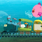"Image for the Childrens programme ""Tricky Tracks"""