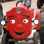 "Image for the Childrens programme ""Tecwyn y Tractor"""