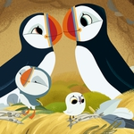 "Image for the Childrens programme ""Puffin Rock"""