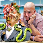"Image for the Cookery programme ""Bizarre Foods"""