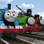 "Image for the Childrens programme ""Thomas and Friends: Dinos and Discoveries"""