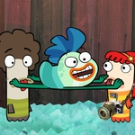 "Image for the Childrens programme ""Fish Hooks"""