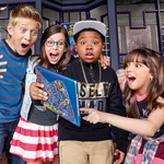 "Image for the Childrens programme ""Game Shakers"""