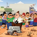 "Image for the Drama programme ""Bordertown"""