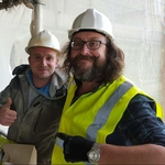 "Image for the Documentary programme ""The Hairy Builder"""