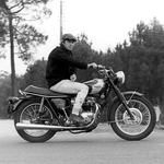"Image for the Motoring programme ""Steve Mcqueen: Motorcycle Movie Star"""